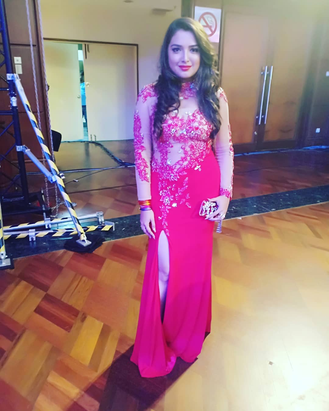 Amrapali Dubey Photo in Red Dress